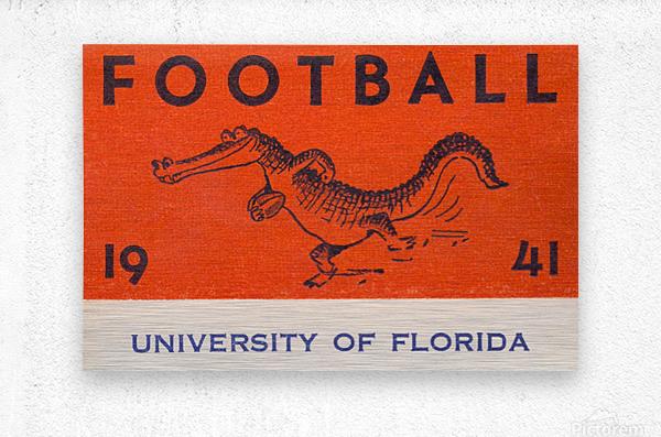 1941 Florida Gators Football  Metal print