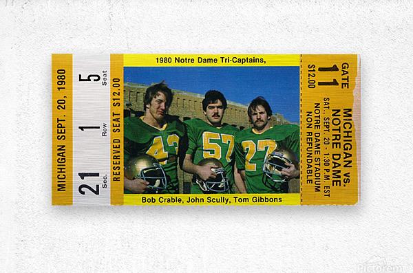 1980 Notre Dame vs. Michigan  Metal print