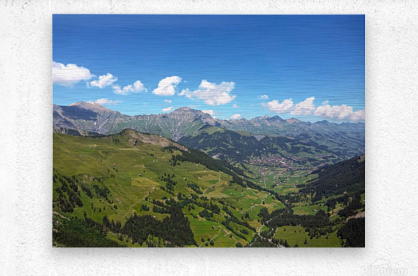 Swiss Highlands View to Forever  Metal print