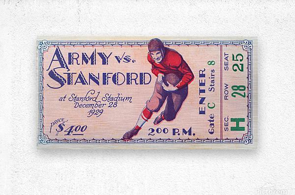 1929 Stanford Football Ticket Stub Art  Metal print