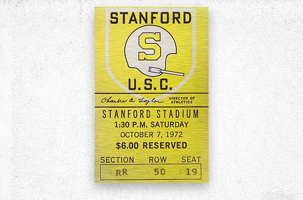 1972 Stanford vs. USC Ticket Stub Art  Metal print