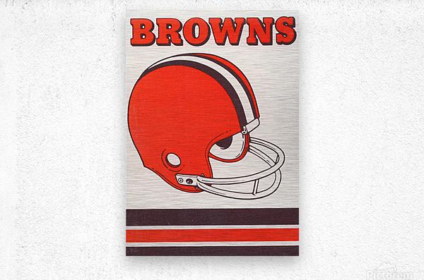 1975 Cleveland Browns Helmet Art  Metal print