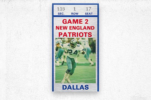 1982 Dallas Cowboys Ticket Stub Wall Art  Metal print