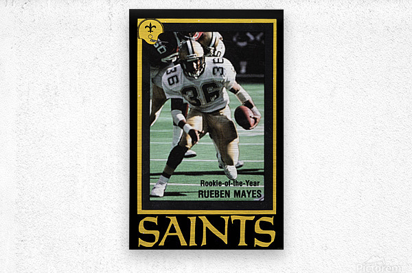 1988 New Orleans Saints Reuben Mayes Poster  Metal print