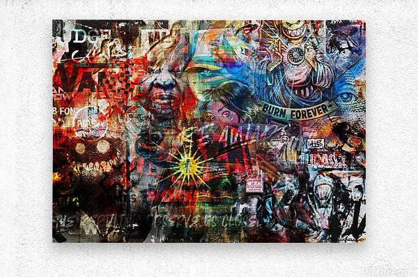 Street Art Reptilian    Metal print