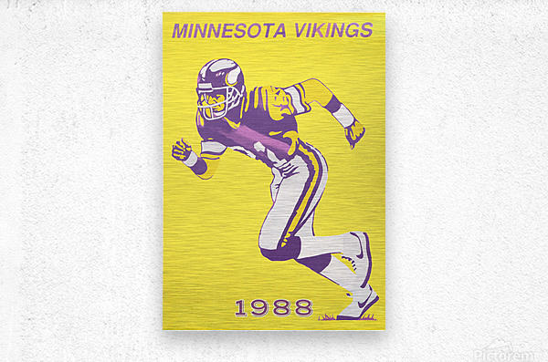 1988 Minnesota Vikings Football Poster  Metal print