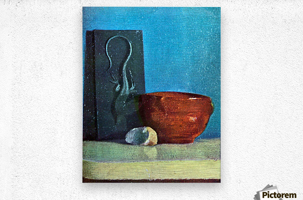 Still Life with lizard by Degas  Metal print