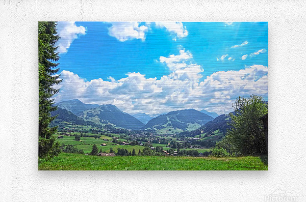 The Last Paradise in a Crazy World Gstaad Switzerland  Metal print