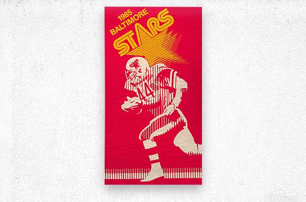 1985 Baltimore Stars USFL Football Art  Metal print