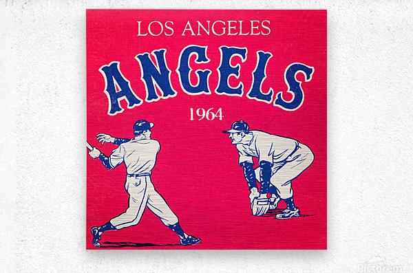 1964 Los Angeles Angels Baseball Art  Metal print