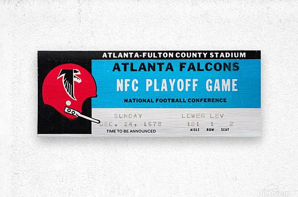 1978 Atlanta Falcons Ticket Stub Art  Metal print