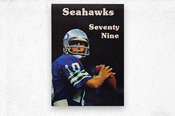1979 Seattle Seahawks Jim Zorn Poster  Metal print