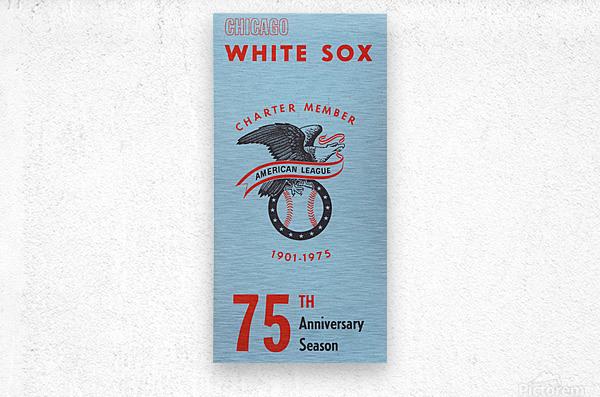 1975 Chicago White Sox Retro Poster  Metal print