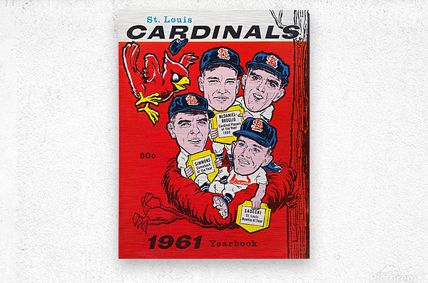 1961 St. Louis Cardinals Yearbook Poster  Metal print