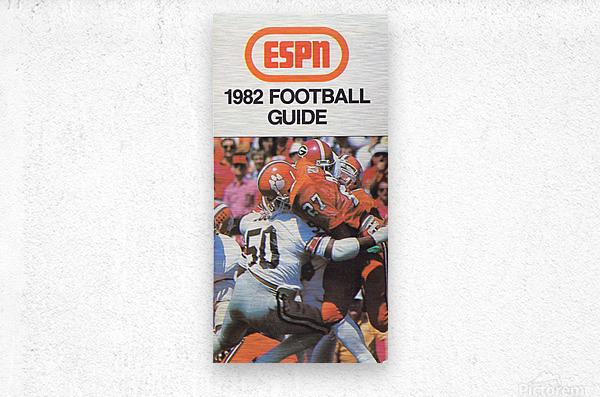 1982 ESPN College Football Guide Poster  Metal print