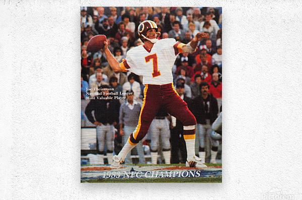 1983 Washington Joe Theismann Poster  Metal print