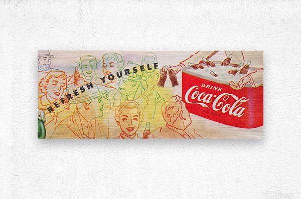 1954 Vintage Coke Ad  Metal print