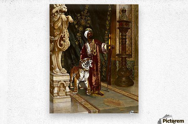 Le Sultan et son Tigre  Metal print