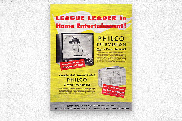 Vintage Philco Television Advertisement  Metal print