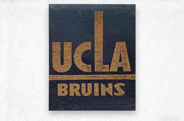Vintage UCLA Bruins Art  Metal print