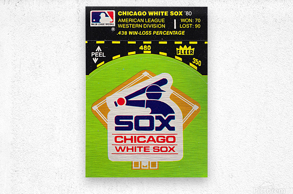 1980 Chicago White Sox Fleer Decal Wall Art  Metal print