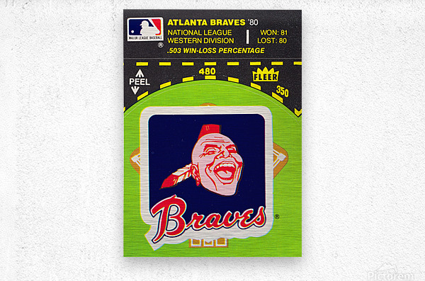 1981 Atlanta Braves Fleer Decal Poster  Metal print