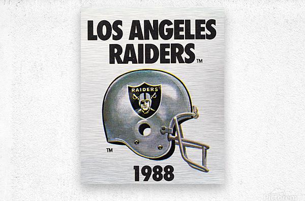 1988 Los Angeles Raiders Helmet Art  Metal print