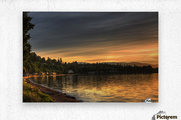Before Sunset by Randy Hall  Metal print