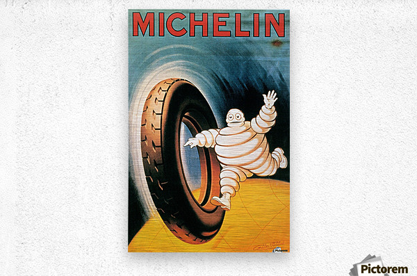 Michelin Poster  Metal print