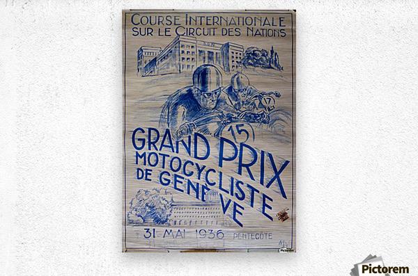 Grand Prix Motocycliste  Metal print