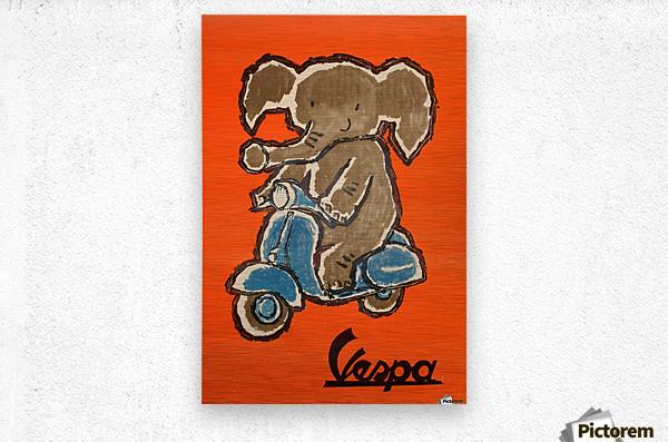 Vespa  Metal print