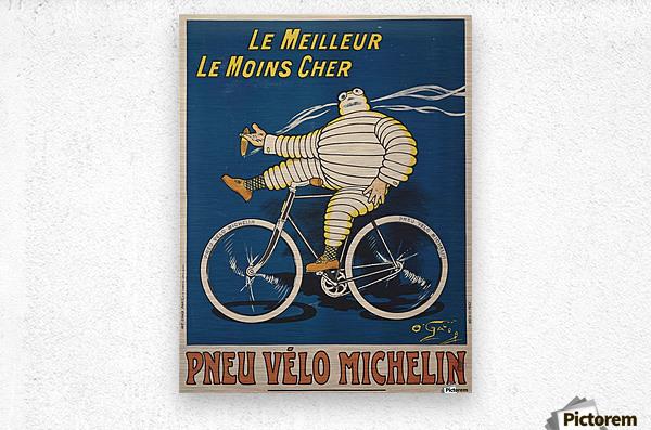 Pneu Velo Michelin  Metal print