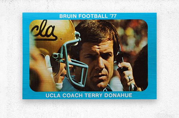 1977 UCLA Bruins Terry Donahue Football Poster  Metal print