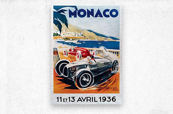 Monaco April 1936  Metal print