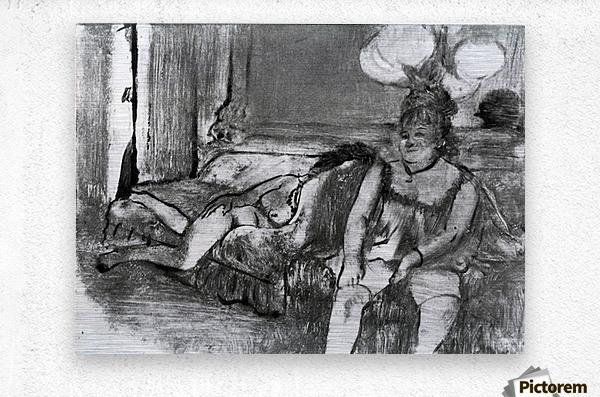 Taking a rest by Degas  Metal print