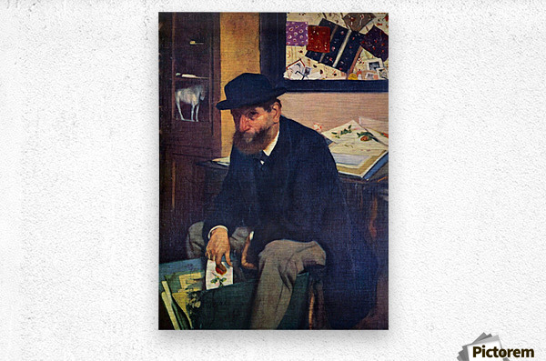 The Amateur by Degas  Metal print