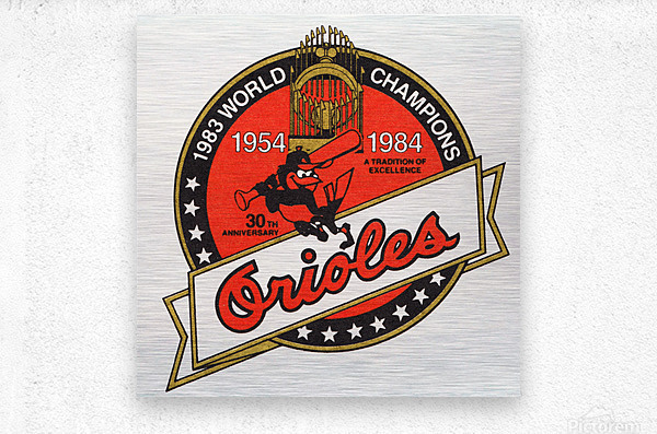 1983 Baltimore Orioles World Champions Art  Impression metal