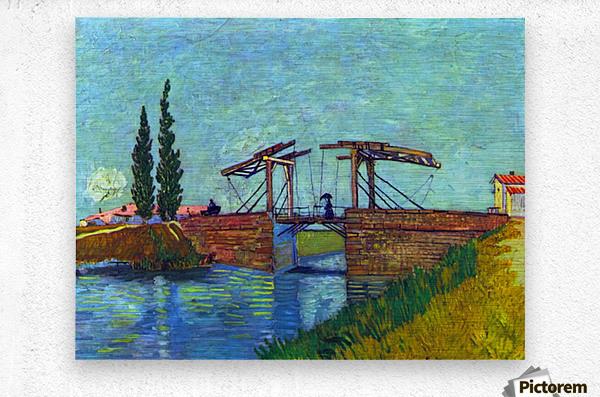 The Anglois Bridge at Arles (The drawbridge) by Van Gogh  Metal print