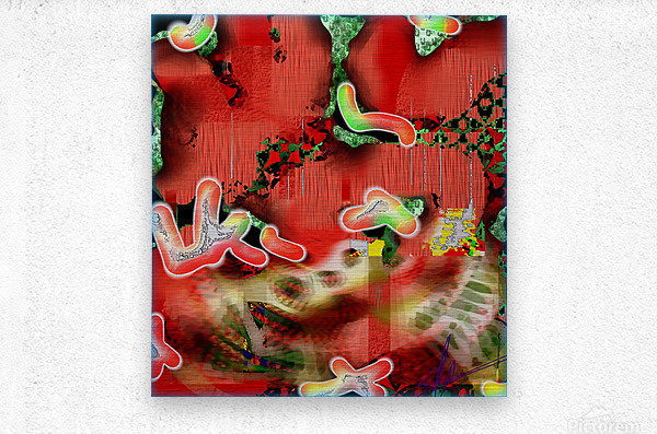 Residents of a Growling Stomach  Metal print