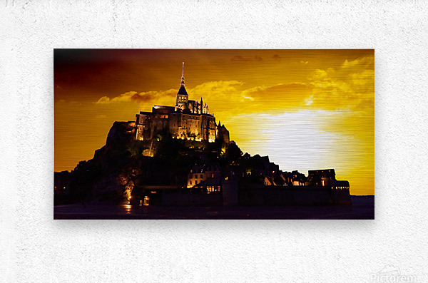 Majestic Mount Saint Michael Panorama  Metal print