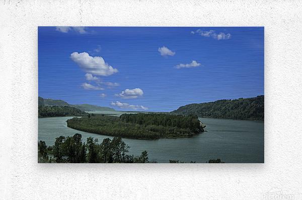 Columbia River The Gorge Oregon Panorama  Metal print
