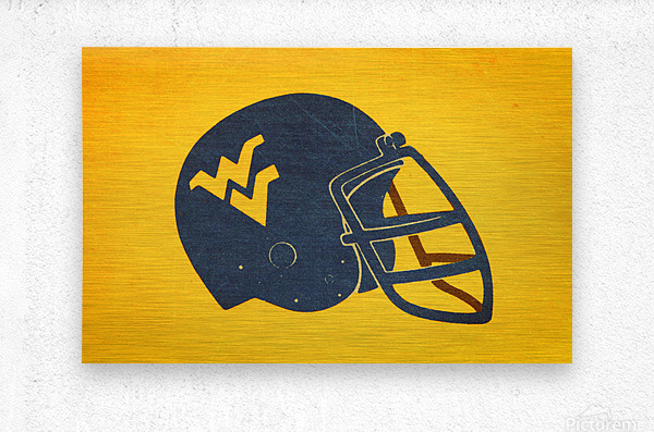 1985 West Virginia Mountaineers Football Helmet Art  Metal print