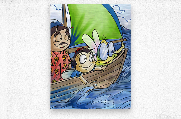 Sail Away with Us  Metal print
