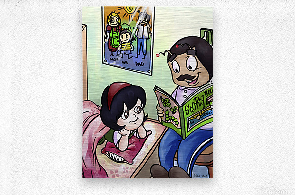 Bedtime - Goodnight Its Storytime   Metal print