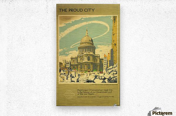 The Proud City  Metal print
