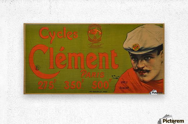 Clement Paris Cycles  Metal print