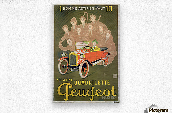 Quadrilette Peugeot  Metal print