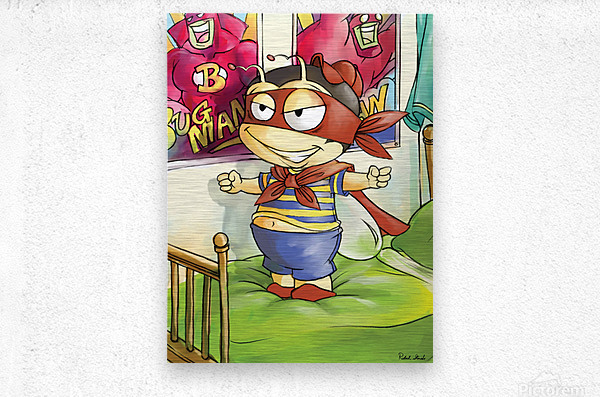 Its Super Buster to the Rescue  Metal print