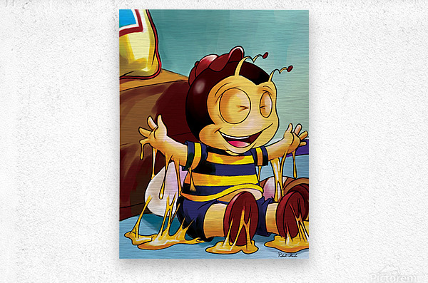 Sticky Mess - Too Much Honey Buster Bee  Metal print