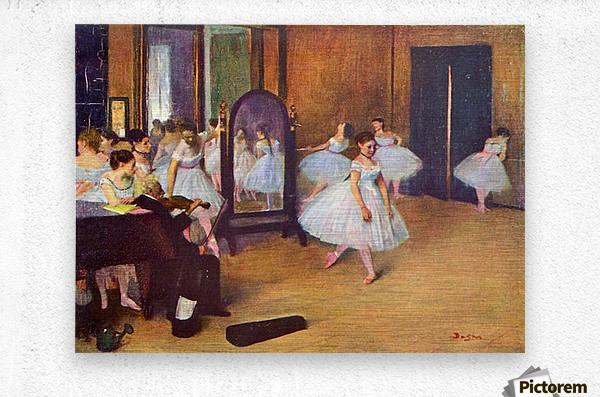 The dance hall by Degas  Metal print